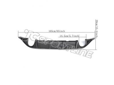 Carbon Fiber Rear Diffuser for VW GOLF 7 MK7 GTI (Fit:GOLF